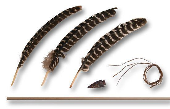 Picture of Stone Arrow Kit with Turkey Feathers